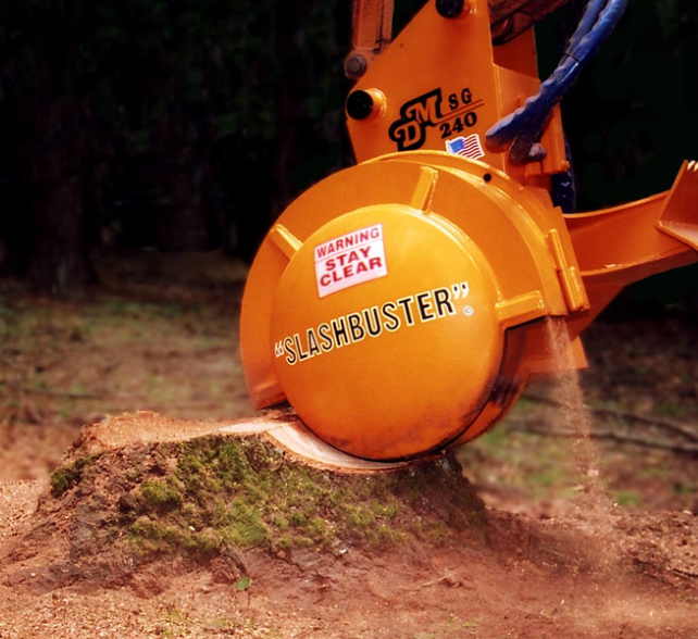 this is an image of stump grinding in whittier